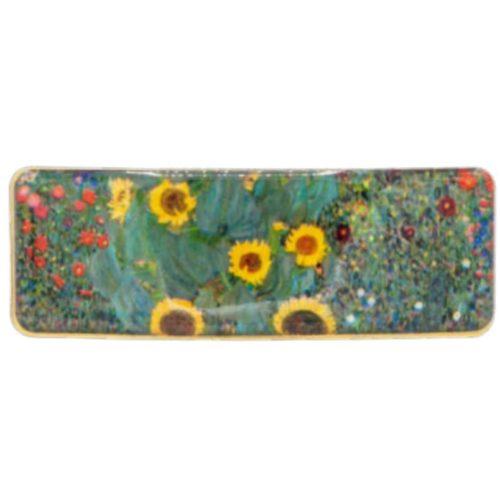 Haarknip kunstenaars Gustav Klimt Boerentuin met zonnebloemen