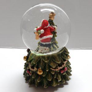 Sneeuwbol kerstboom met kerstman met led verlichting