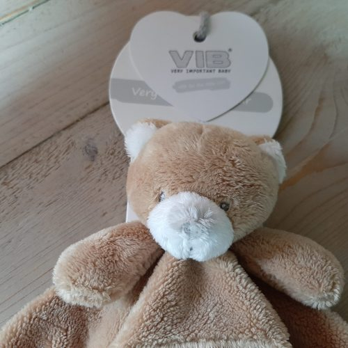 Baby knuffeldoekje beer bruin van VIB