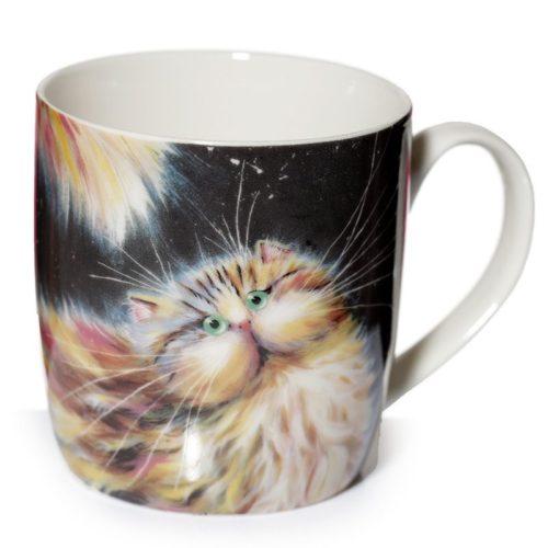 Mok regenboog kat van Kim Haskins