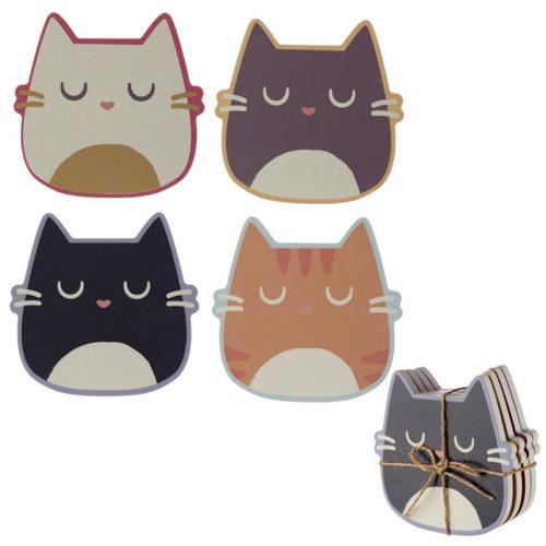Onderzetters Feline de kat set van 4 stuks