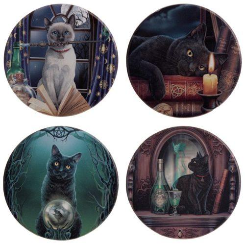 Onderzetters katten van Lisa Parker set van 4 stuks