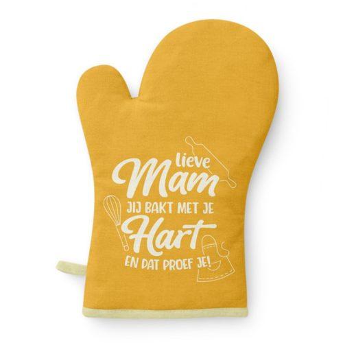 Ovenhandschoen Lieve mama jij bakt met je hart