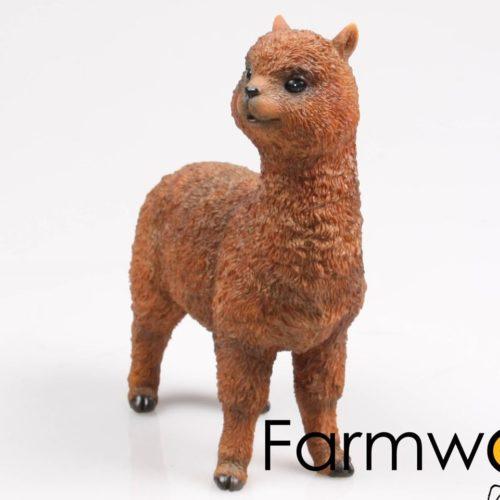 Alpaca bruin beeldje van 21cm