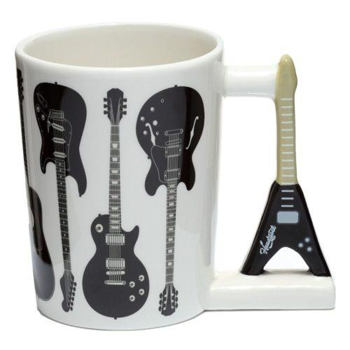 Mok rock gitaar zwart wit met oor in 3D