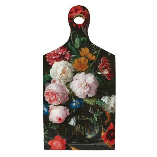 Borrelplank kunstenaars De Heem met bloemen