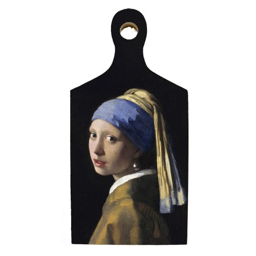 Borrelplank kunstenaars Vermeer Meisje met de parel