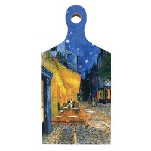 Borrelplank kunstenaars Vincent van Gogh Café de nuit
