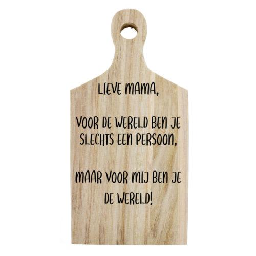 Borrelplank lieve mama jij bent de wereld