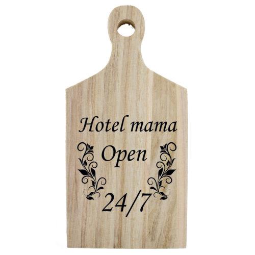Borrelplank quote Hotel mama open 24-7