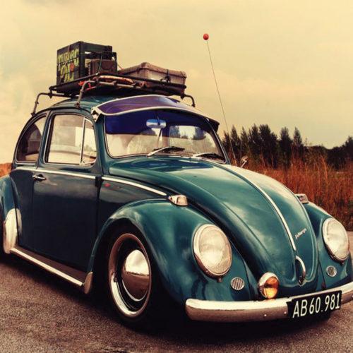 Onderzetters auto's Volkswagen Kever of Beetle set van 6