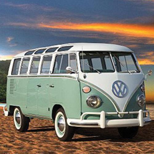 Onderzetters auto's verschillende Volkswagen busjes T1