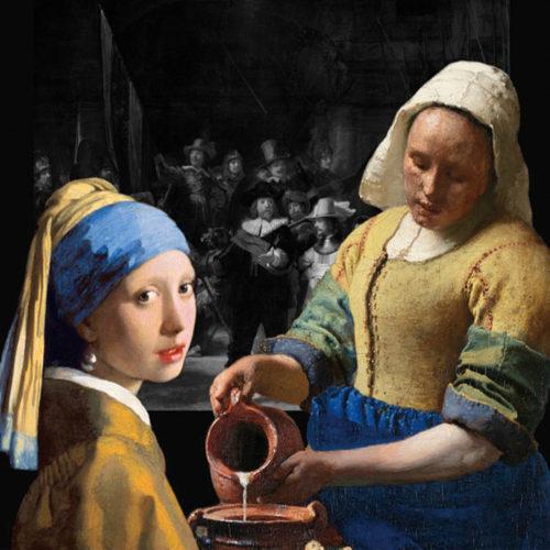 Onderzetter Vermeer set compleet