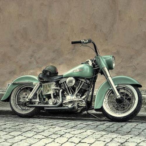 Onderzetters motoren Harley Davidson in kleur set van 6 stuks