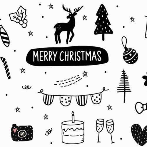 Onderzetters kerst met 6 verschillende prints en teksten