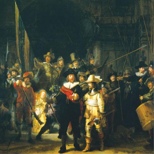 Onderzetter set Rembrandt de Nachtwacht 6 stuks