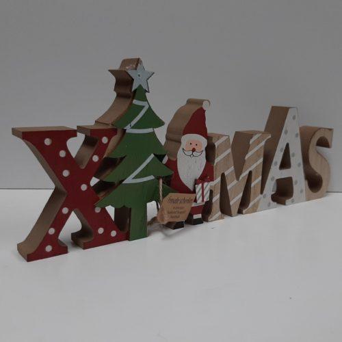 Kerst decoratie - Houten staande letters xmas