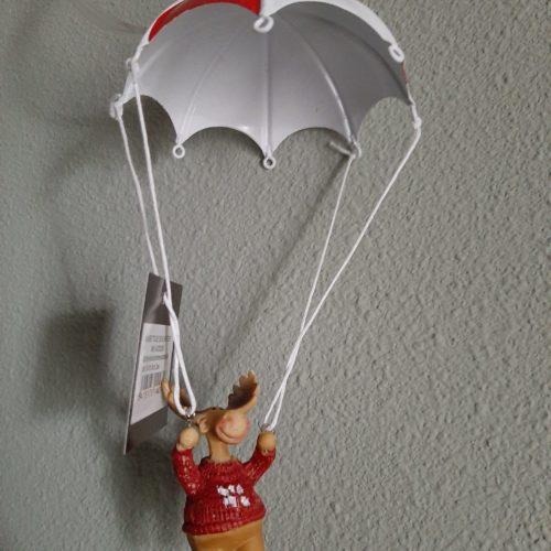 Springveer parachute met rendier