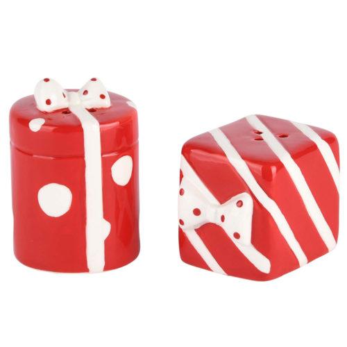 Peper en zout stelletje cadeautjes rood wit