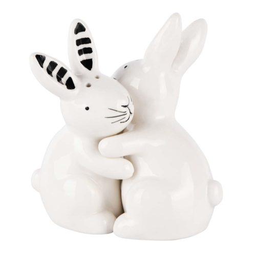 peper en zout stel konijnen zwart wit