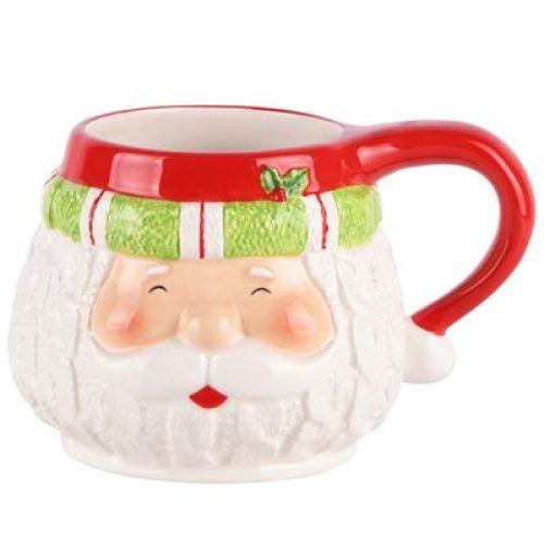 Kerst mok Santa's face in 3D